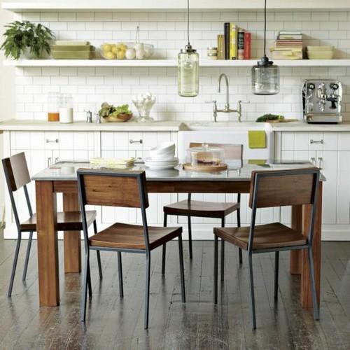 Деревянные обеденные столы и стулья фото