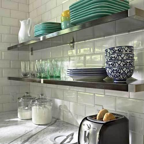 Кухонные полки в интерьере фото