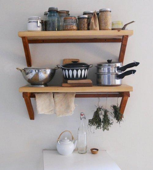 Деревянные полки для кухни своими руками фото