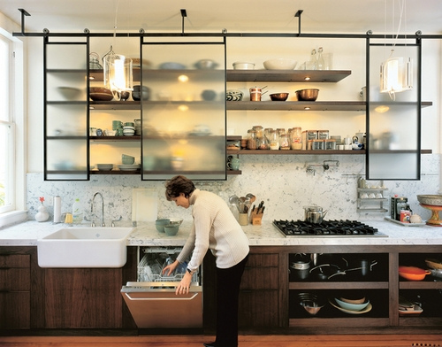 Кухонные полки с подсветкой