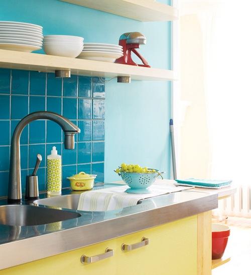 Полки для кухни в интерьере фото