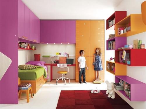 Мебель для детской комнаты для разнополых детей