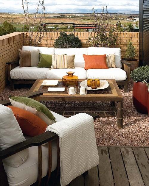 Деревянная мебель для террасы