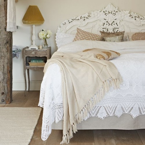 кровати в стиле шебби шик