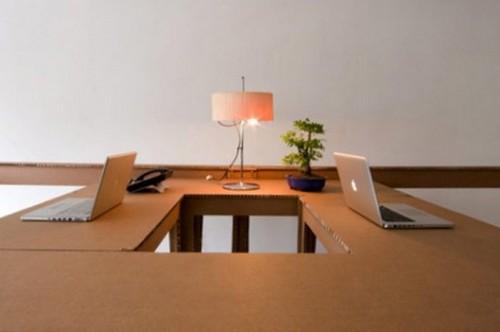 Мебель для офиса из картонных коробок