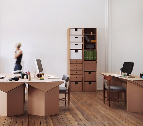 Картонная мебель для кабинета