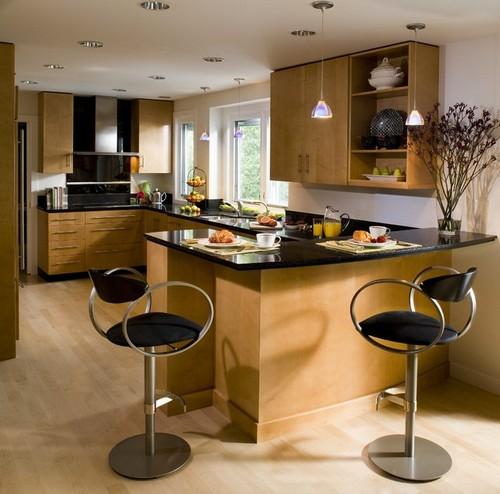 Подвесные светильники для рабочей зоны кухни