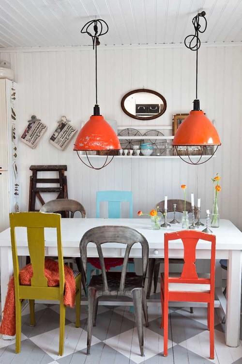 Подвесные светильники для кухни в стиле ретро