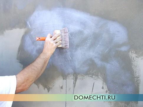 Грунтовка - подготовка к покраске фасада дома