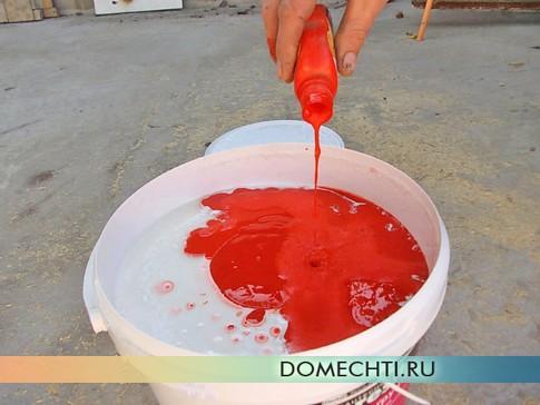 Покраска фасада своими руками - подготовка краски-грунтовки