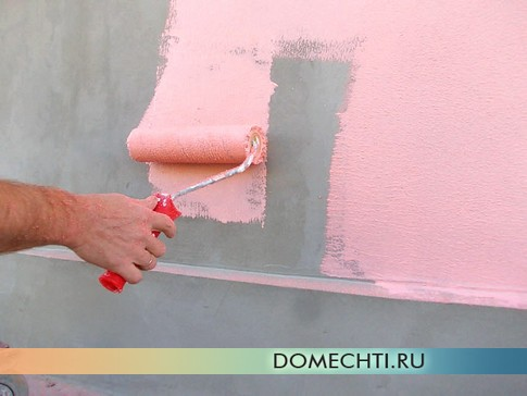 Покраска фасада дома фото