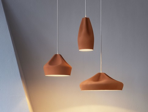 Подвесные светильники терракотового цвета