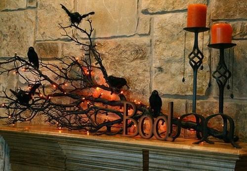 Интересное украшение интерьера на Хэллоуин