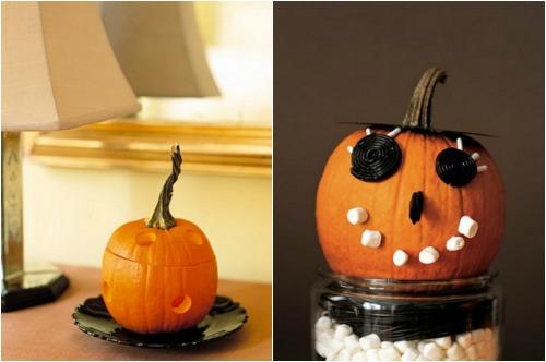 Украшение квартиры к хэллоуину с помощью тыквы