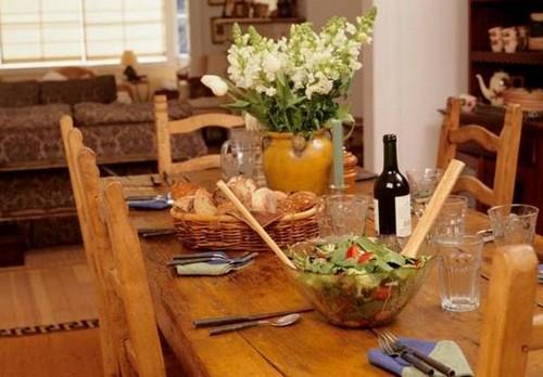 Интерьер ретро-кухни фото