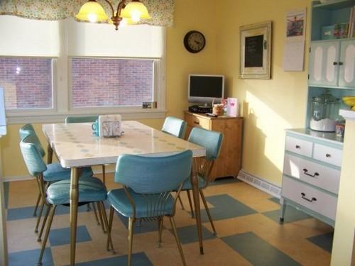 Мебель для кухни в стиле ретро