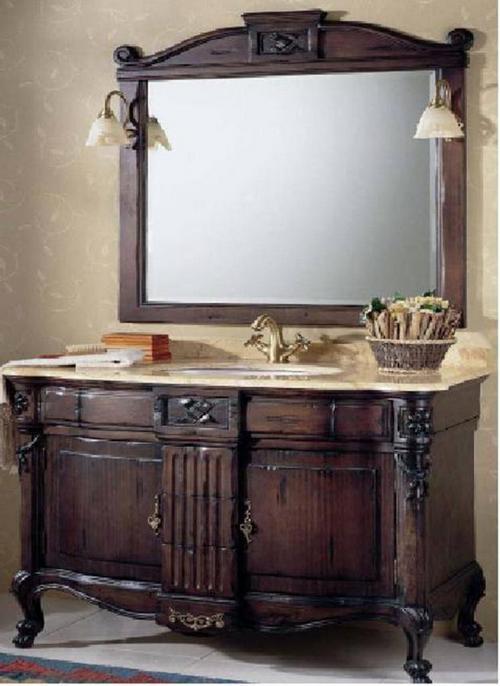 Резная мебель для ванной из дерева - Мойдодыр