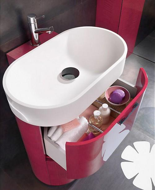 Комплект мебели Мойдодыр в ванную Италия