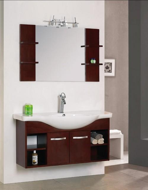 Современный Мойдодыр с зеркалом для ванной комнаты