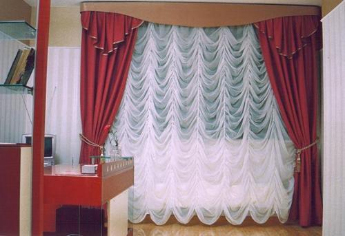 Стационарные французские шторы фото