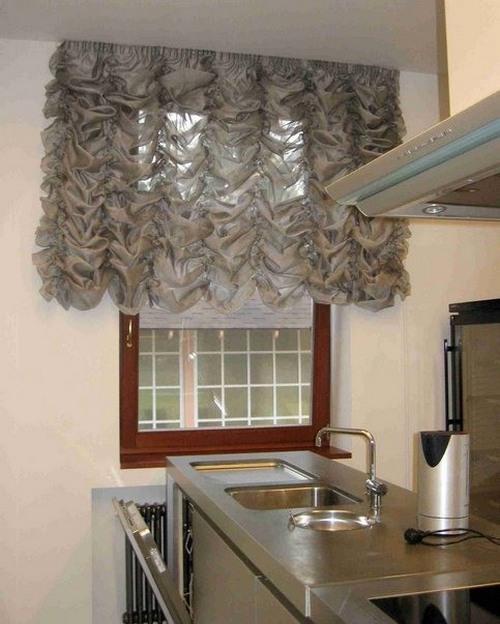Французские шторы для кухни фото