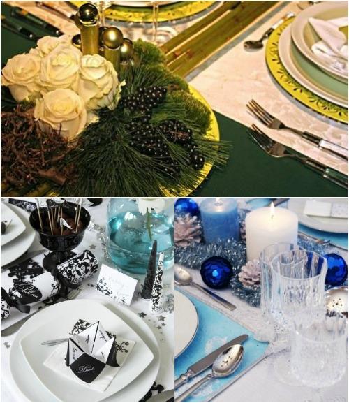 Праздничная сервировка новогоднего стола 2013 фото