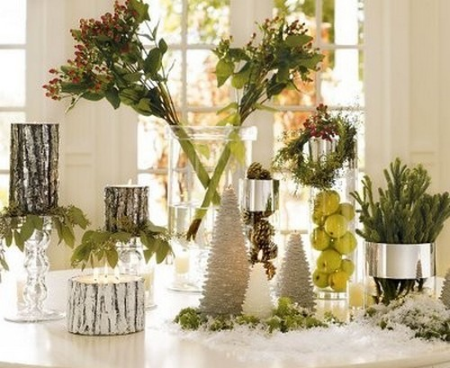 Новогодние свечи в виде елочки фото