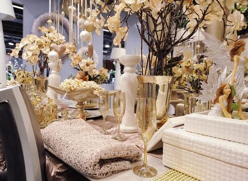 Идеи украшения стола на Новый год 2013 фото