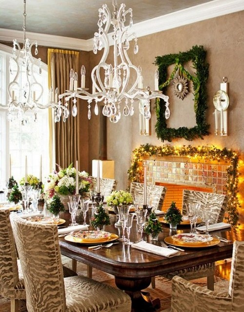Украшение и сервировка стола к Новому году 2013 фото