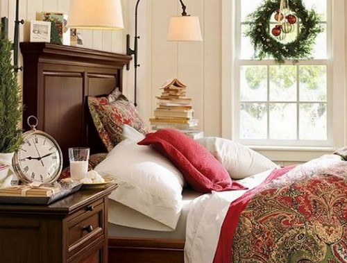 Как украсить спальню к Новому году 2013