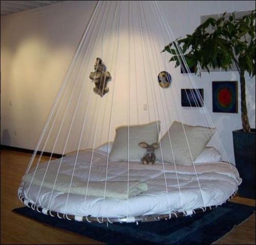 Подвесные круглые кровати фото