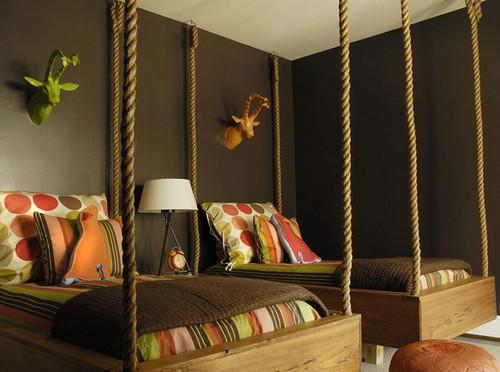 Подвесные кровати фото