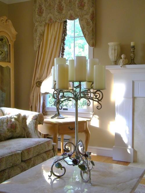 Шторы для гостиной с жестким ламбрекеном
