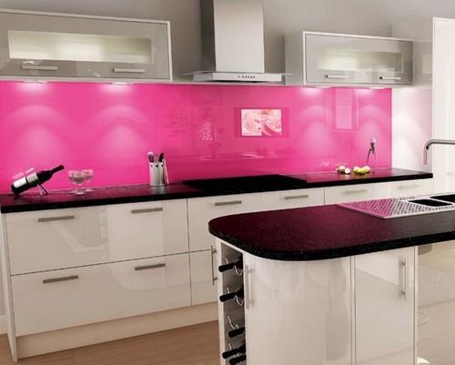 Модный цвет кухонных скинали фото