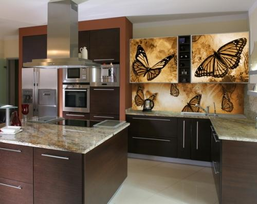 Кухонные скинали с фотопечатью