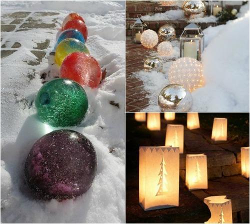 Новогодние украшения для улицы