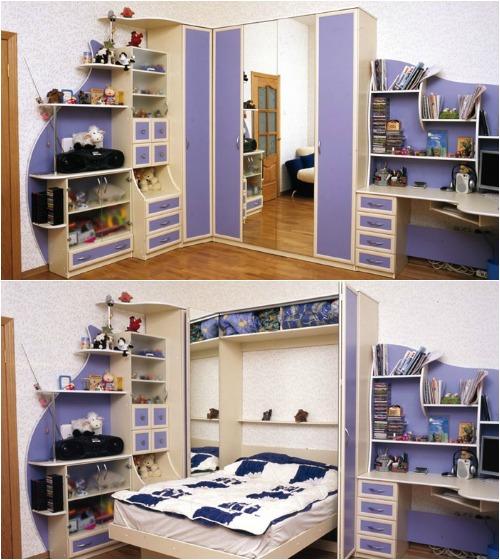 Встроенные детские кровати