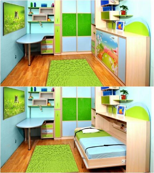 Детская мебель со встроенной кроватью