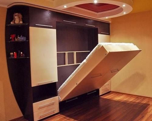 Кровать встроенная в шкаф фото