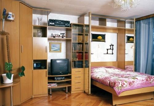 Мебельная стенка со встроенной кроватью