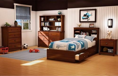 Детская кровать с ящиками фото