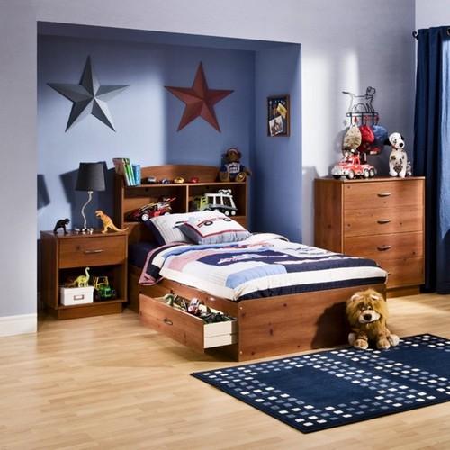 Односпальная кровать с ящиками для мальчика
