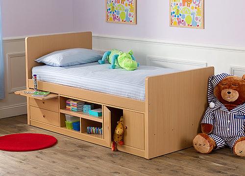 Кровать с ящиками для маленьких детей