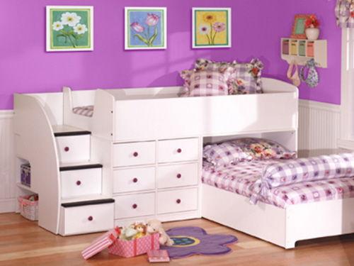 Детская кровать с ящиками для двоих детей