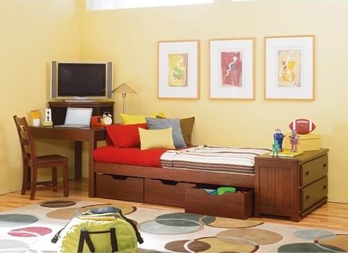 Детская кровать с ящиками деревянная