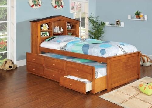 Подростковая кровать с ящиками и дополнительным спальным местом