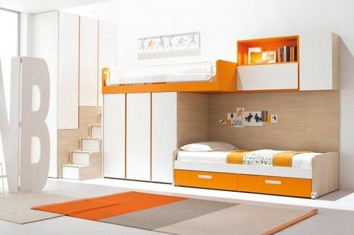 Детские двухъярусные кровати со шкафом