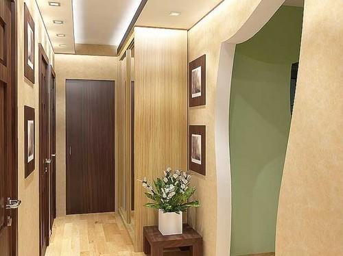 Дизайн коридора с аркой