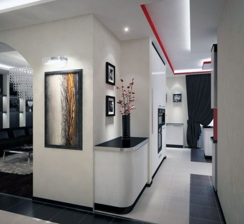 Оформление интерьера маленького коридора