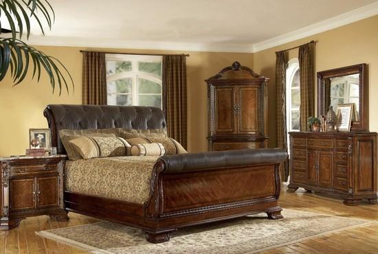 Кожаные кровати в интерьере фото